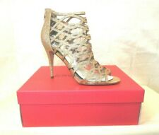 Betsey Johnson Judeth Caged Stiletto Sandals Shoes, Women's Size 9.5 Gold