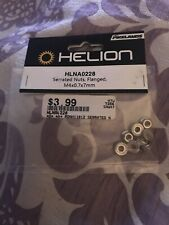 Helion Hlna0228 Serrated Nuts Flanged M4x0.7x7mm 8 Pieces