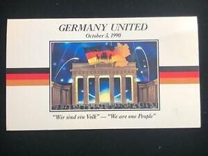 Germany United October 3 1990 $5 Commemorative Coin Folder Set Marshall Islands