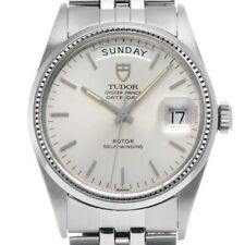 Free Shipping Pre-owned TUDOR Oyster Prince Date Day 94710 Silver Dial