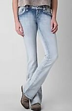 NEW WOMEN'S ROCK REVIVAL BLUE KAITLYN STRAIGHT STRETCH JEANS SIZE 26 X 36
