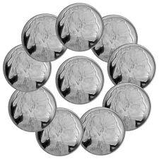 Lot of 10 2019 Highland Mint Buffalo Nickel Design 1 oz Silver Round BU SKU56455