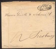 ÖSTERREICH 1846 VORPHILABRIEF von PETERWARDEIN nach TRESBURG(D0873
