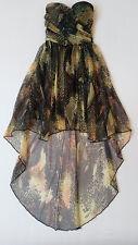 Vestido estampado tul mini con capa palabra de honor - Bershka - Talla S