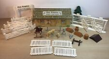VINTAGE Marx Roy Rogers Rodeo Ranch Playset Double R Bar & Fence TIN TOY WESTERN