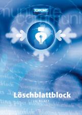 100x (5x 20 Blatt) Löschpapier Löschblattblock Löschblätter A4