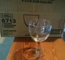 Libbey clear glass goblets, 13 3/4oz, new/never used/in box, 12/$15