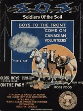 WW1 RECRUITING POSTER NEW A4 PRINT CANADIAN SOLDIERS OF THE SOIL CANADA FOOD