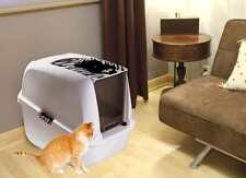 Cat Litter Tray Hooded Cat Pan Litter Box For Cats Large Big Giant Home Toilet