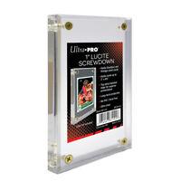 "Ultra Pro 1"" Inch Lucite Brick 4-Screw Card Holder Acrylic Display Slab"