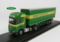 BNIB N GAUGE OXFORD DIECAST 1:148 NMB006 MERCEDES CURTAINSIDE SPARKS LORRY