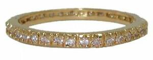 ring stack eternity band yellow gold infinity swarovski stone size 7 9 10 NWT