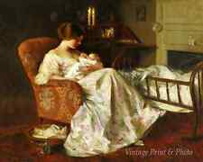 Mother and Child by Francis Day Art Baby Sleep Chair Crib Infant 8x10 Print 0811