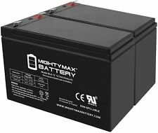 Mighty Max 12V 9Ah Sla Replacement Battery 2-Pack! For CyberPower Cp1350Avrlcd