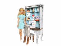 MiniMolly Dollhouse 1:6 Barbie Size Sewing Set Furniture Table Chair Sew Machine