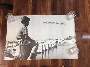 Vintage 1970 John F Kennedy Poster Best Generation History of Mankind Harbor NOS