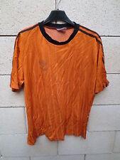 VINTAGE Maillot ADIDAS orange Trefoil shirt trikot oldschool L années 90