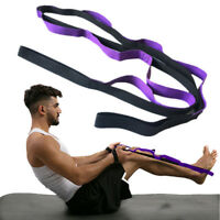 Yoga Stretch Out Yoga Strap With 2M Flexible Loops Pilates Workouts Strengthen