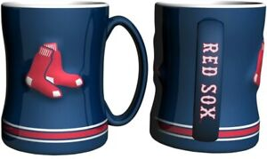 Boston Red Sox 14oz Sculpted Relief Coffee Mug MLB - BLUE VERSION