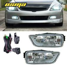 Fog Lights For 03-07 Honda Accord 4Dr 04-08 Acura Tl Clear Driving Bumper Lamps