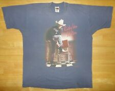 Vintage 1996 Ricky Van Shelton Tour Shirt with Cities Blue Single Stitch
