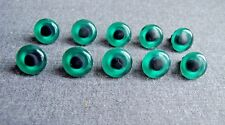 10 Pcs Vintage 70'S Plastic With Hole For Sewing Green Bears & Dolls E 00004000 Yes
