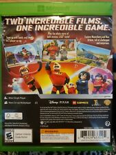 Excellent -LEGO The Incredibles- XBOX ONE Children's Pixar Video Game w/Case