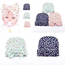 Ademoo Newborn Baby Girls Nursery Beanie Hospital Hat with Bow Floral 3...