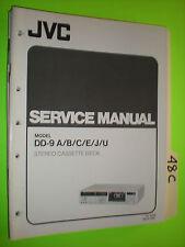 JVC dd-9 service manual original repair book stereo cassette deck tape player