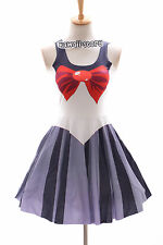 SK-07 Gr. S-M Sailor Moon Pluto grau Kleid dress Cosplay Manga Kostüm Anime
