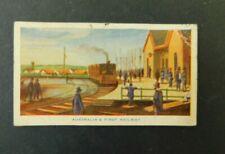 c1940 Hoadleys Trade Card Birth of a Nation #19 Ausralias First Railway VGC
