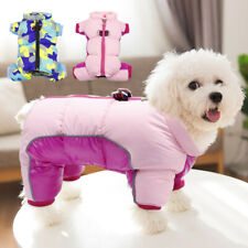 Small Dog Coats with Legs Waterproof Chihuahua Clothes Boy&Girl Winter Jumpsuit