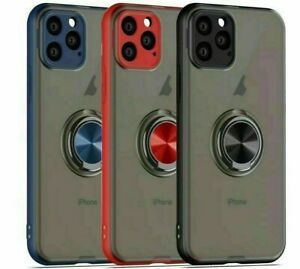 For Apple iPhone 11,IPhone 12 Pro Max Magnetic Shockproof Ring Holder Case Cover
