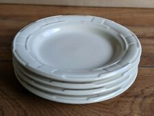 Longaberger Woven Traditions Pottery Bread and Butter Plates Ivory-Set of 4