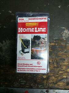 Square-D HOM250GFIC 50 Amp Breaker New In Box Clip In