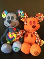 Lot of 2 NWT Disney Store June+July Mickey Mouse Memories Plush Christmas Gift