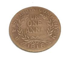ONE ANNA 1818 COPPER LAKSHMIJI  GANESHJI  ANTIQUE OLD COIN