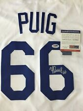 Yasiel Puig Dodgers signed HOME100% Authentic WHITE Jersey PSA AA78821