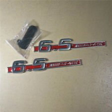 Red 6.5 AMG Metal Chrome Grille Emblem + Sticker Decal Badge Sports s63 Logo suv
