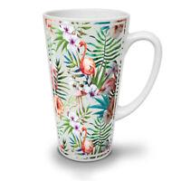 Flamigo Flower NEW White Tea Coffee Latte Mug 12 17 oz | Wellcoda