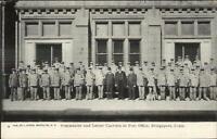 Bridgeport CT Postmaster Postal Carriers Post Office c1910 Postcard
