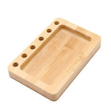 COURNOT Bamboo Rolling Tray With Cone Hole Holder Multifunctional Bamboo Holder