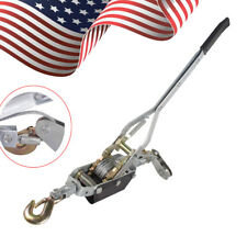 4Ton 8000lb Hand Puller Cable Puller Pulling With Hook Winch Hoist Ratcheting
