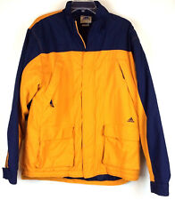 Adidas Jacket Size Medium Insulated Coat Gold Navy Blue Color Block