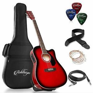 guitarra electroacustica guitarras electro acustica Nuevo electric acustic Rojo