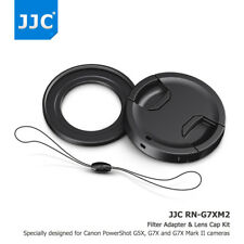JJC 49MM Filter Adapter + Lens Cap +  Keeper for Canon PowerShot G5X G7X G7X II