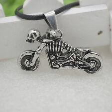 1 Pc Skull Motorcycle Punk Titanium Steel Casting Necklace Pendant _gu