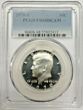 1970 S Proof Kennedy Half Dollar PCGS PR68 DCAM Silver Registry Coin
