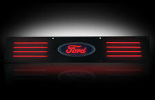 RECON LED Red Illuminated Black Aluminum Rear Door Sills for 99-15 Superduty