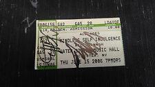 Mindless Self Indulgence and Kill Hannah Autographed Ticket Stub COA